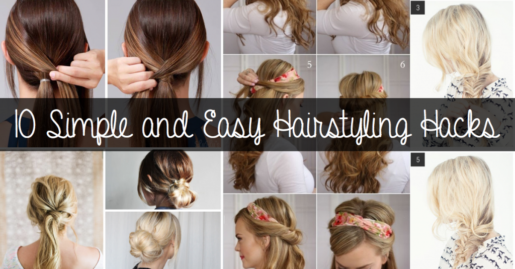 Awesome 10 Simple And Easy Hairstyling Hacks For Those Lazy Days Cute Short Hairstyles Gunalazisus