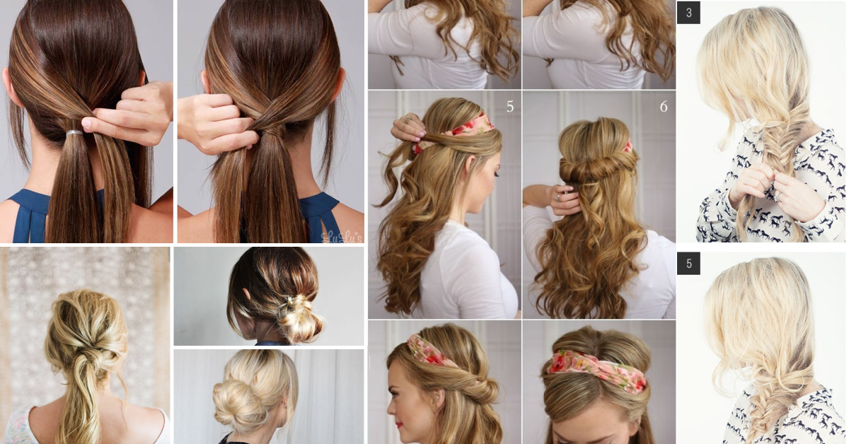 Admirable 10 Simple And Easy Hairstyling Hacks For Those Lazy Days Cute Short Hairstyles Gunalazisus