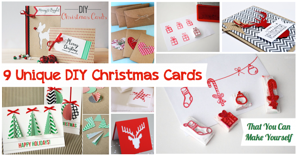 Unique Christmas Cards.25 Unique Homemade Christmas Cards That You Can Make