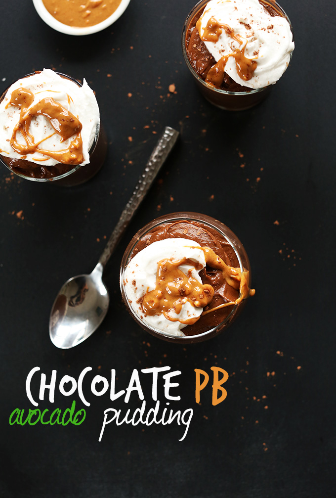 Avocado Pudding With Chocolate And Peanut Butter