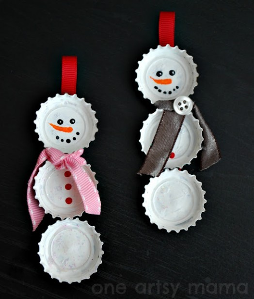Cool DIY Snowman Christmas Ornament To Make With Your Kid