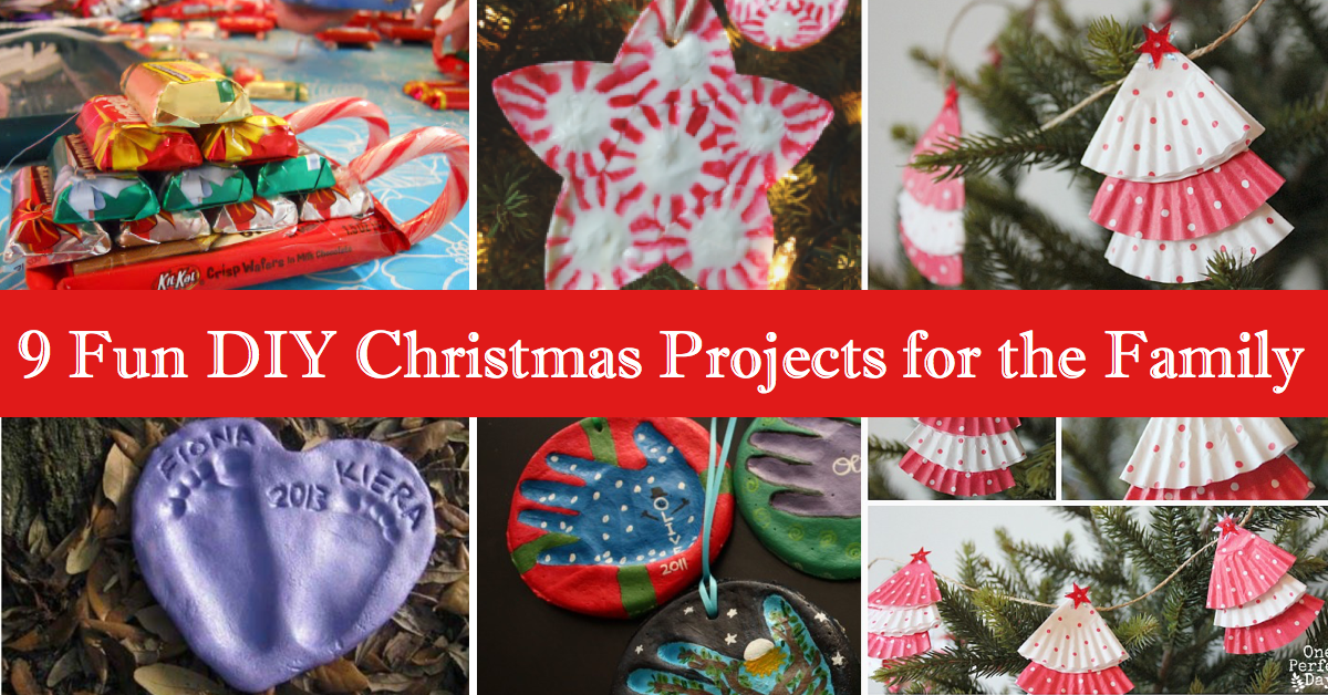 9 Fun DIY Christmas Projects For The Family Cute