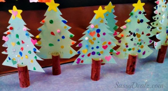 Diy Christmas Tree Toilet Paper Roll Craft For Kids Cute Diy Projects