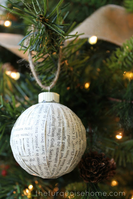 diy paper covered ornaments - Easy Christmas Tree Decorations
