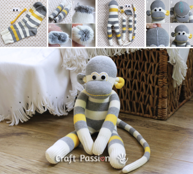 DIY Socks monkey