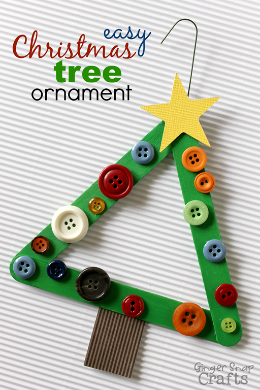 easy christmas tree ornament - Homemade Christmas Decorations For Kids
