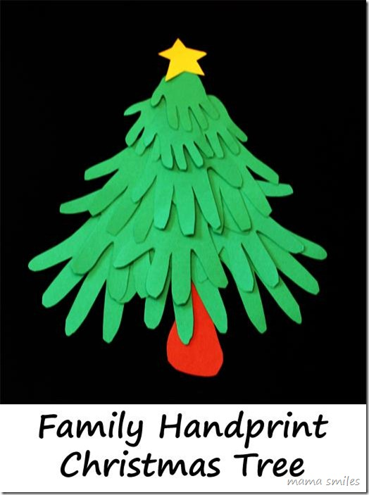 Fun Christmas Craft : Family Handprint Christmas Tree
