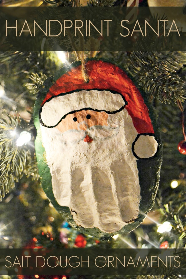 handprint santa salt dough ornament easy and diy crafts for diy 6693