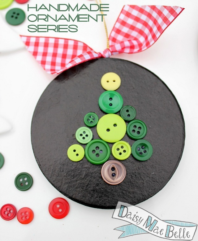 Homemade Button Ornaments