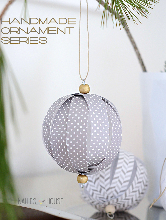 homemade pieces of paper christmas ornaments
