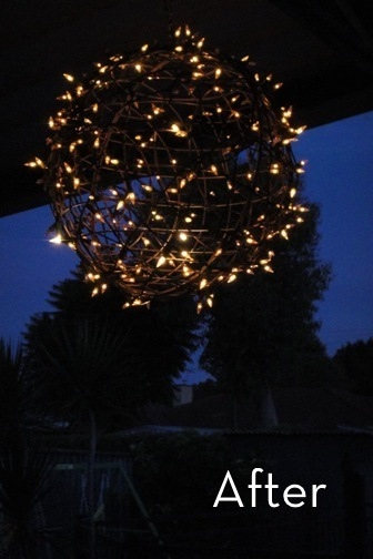 How to Turn Wire Baskets into a Fairy Light Globe