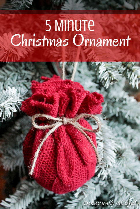 make an ornament in five minutes - Homemade Christmas Ornament Ideas