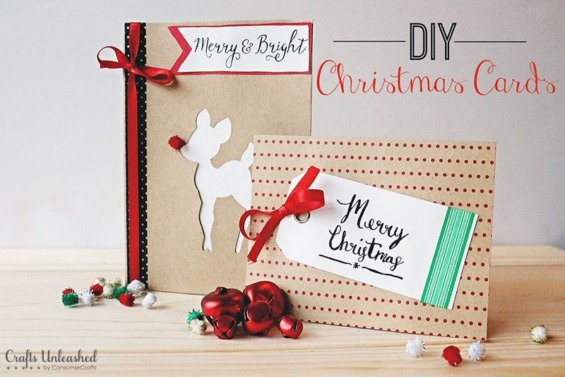 Merry bright DIY Christmas cards