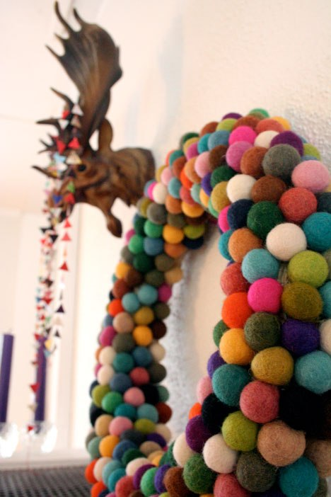 Mini Felt Ball Wreaths