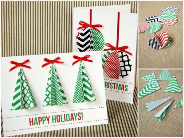 25 unique homemade christmas cards that you can make