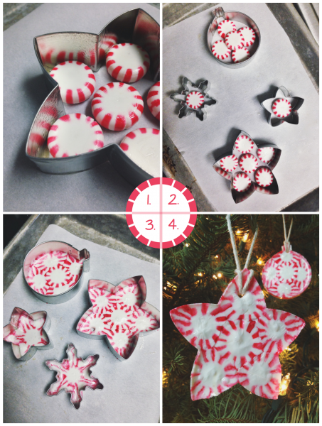Peppermint Christmas Ornament Candies