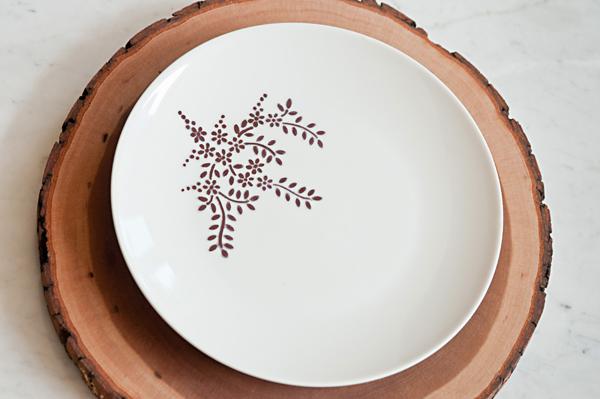 Personalized Sharpie dinnerware