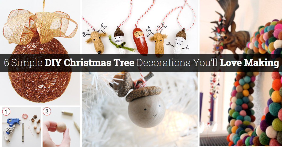 6 wonderful and simple diy christmas tree decorations youll love making