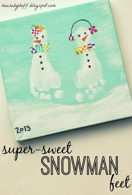 Super Sweet Snowman Feet
