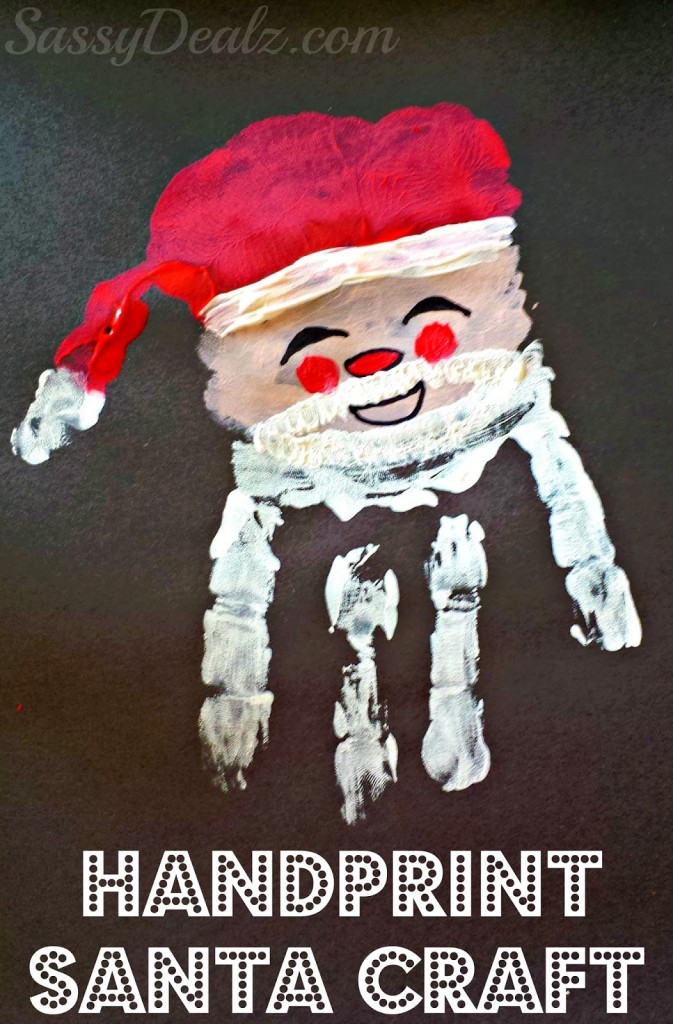 The Santa Claus Handprint Christmas Craft