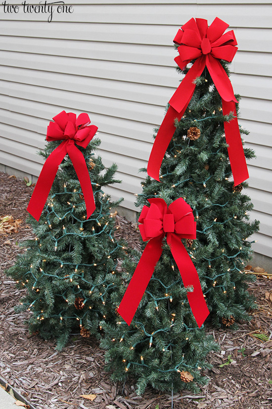 Tiered Tomato Cage Christmas Trees