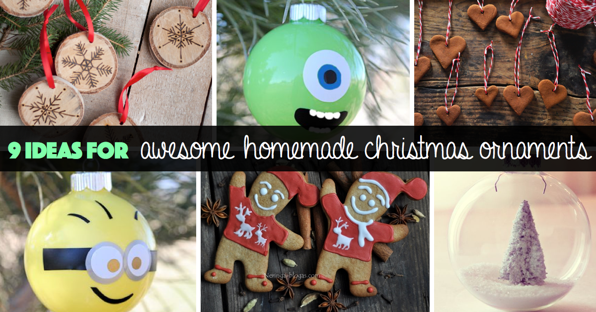 homemade christmas ornaments - Cute Homemade Christmas Decorations