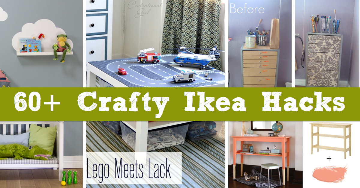 60 crafty ikea hacks to help you save time and money cute diy projects. Black Bedroom Furniture Sets. Home Design Ideas