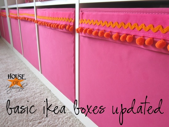 Add Some Trim To Your Baby Girl's Basic Pink Ikea Boxes