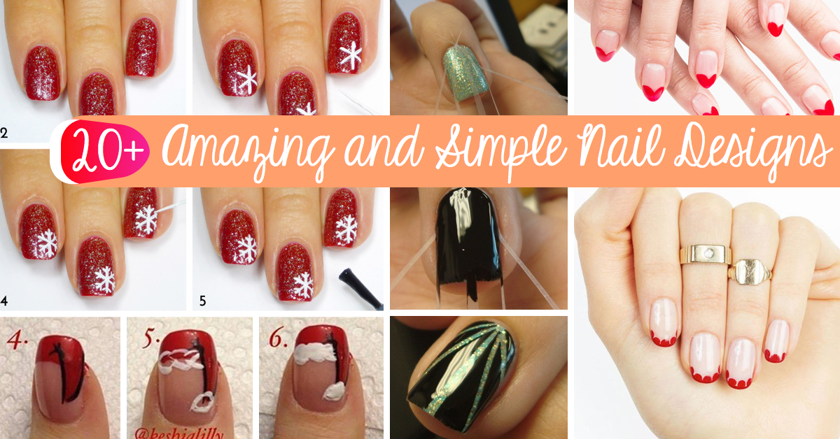 20 amazing and simple nail designs you can easily do at home 20 amazing and simple nail designs you can easily do at home prinsesfo Choice Image