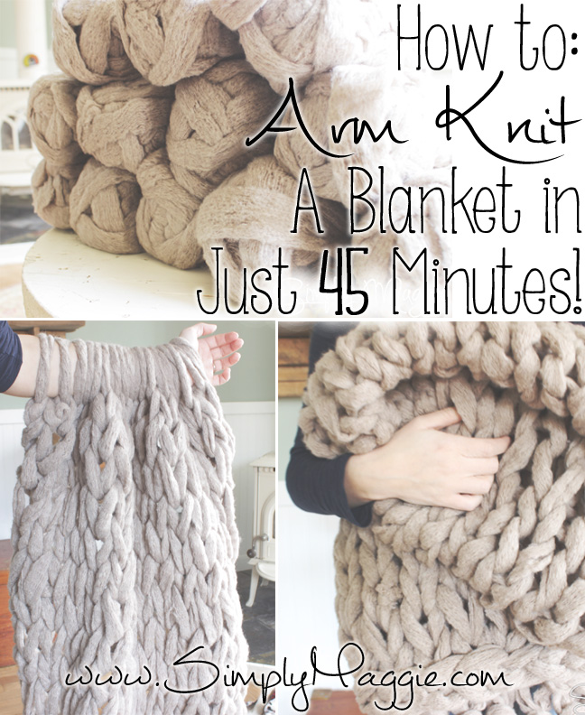 Knitting A Blanket With Arms : Diy arm knitting ideas and tips cute projects