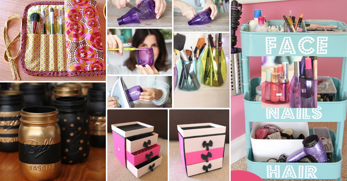 25 brilliant and easy diy makeup storage ideas page 2 Easy diy storage ideas for small homes