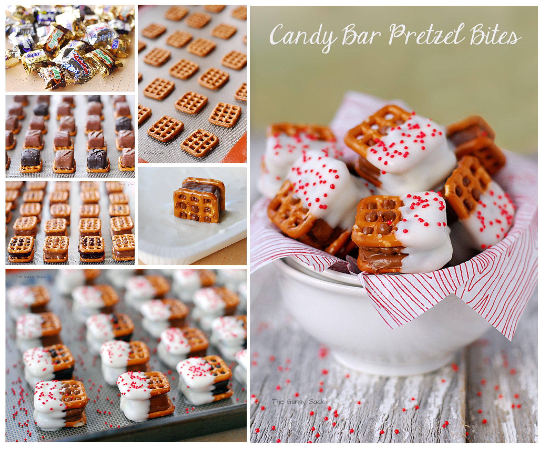 Candy Bar Pretzel Bites Christmas Cookies Cute Diy Projects