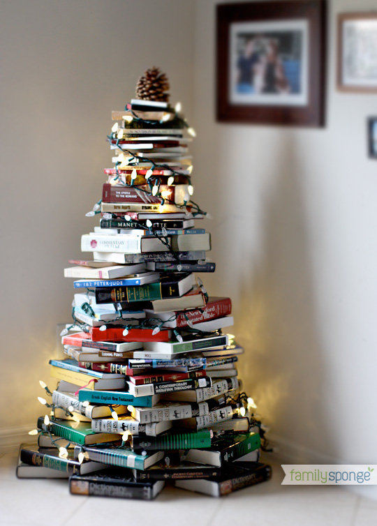 Crafty Christmas Tree From Books