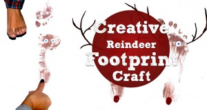 Creative Reindeer Footprint Craft