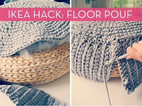 60 crafty ikea hacks to help you save time and money page 3 of 3 diy floor pouf solutioingenieria Choice Image