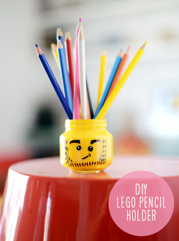 DIY Jar Pencil Holder