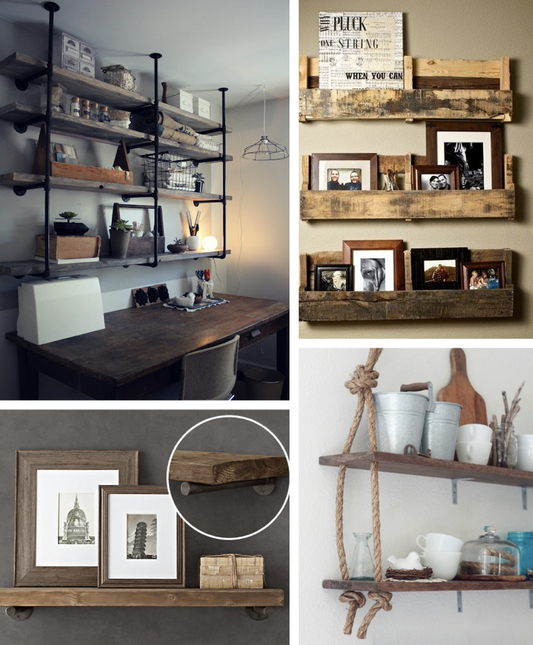 Cute Home Decorating Ideas Part - 23: 9. DIY Rustic Shelves