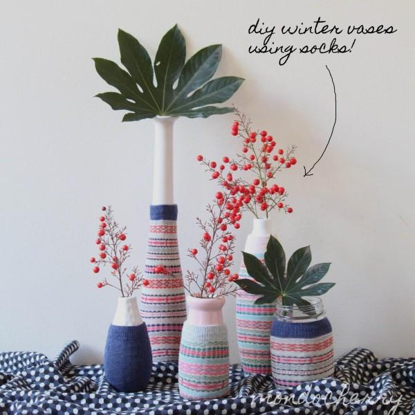 Dress Up Your Mason Jars With Some Stylish Socks