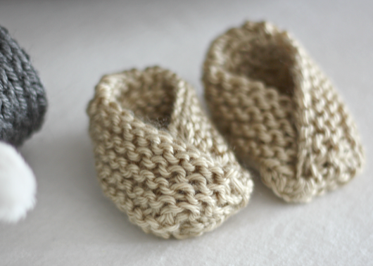 Easy Knit Baby Booties Cute Diy Projects