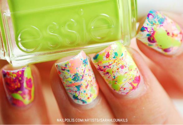 Easy Splatter Nails