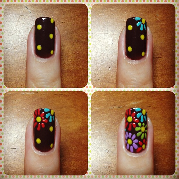 16 flower patterns - Nail Designs Do It Yourself At Home