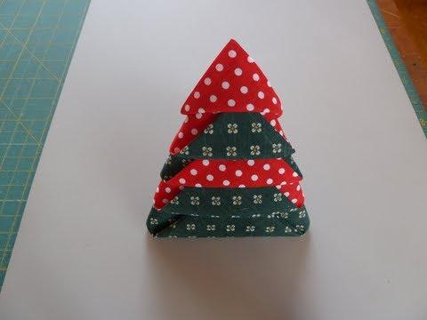 Fold Napkins into Christmas Trees