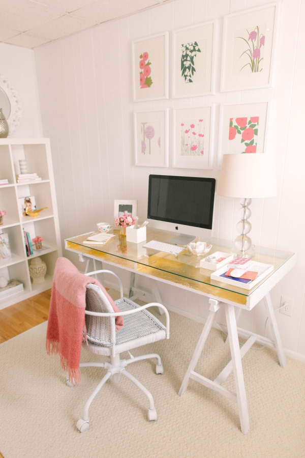 Do It Yourself Gold Leafed Ikea Desk