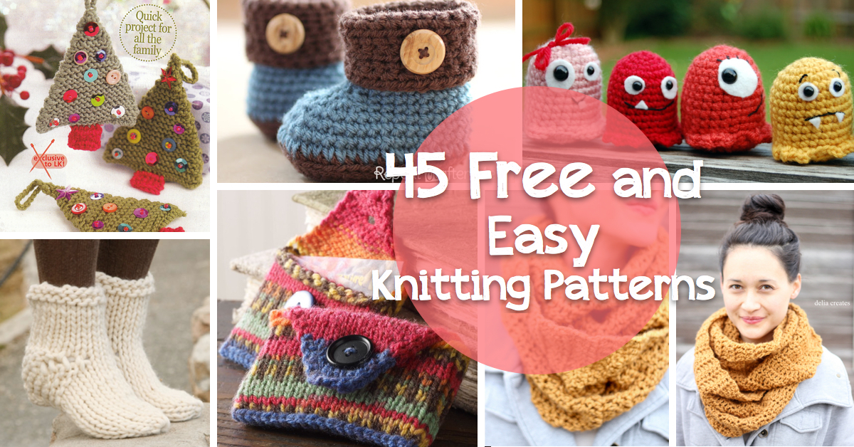 45 Free And Easy Knitting Patterns