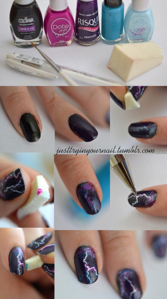 lightning nails - Easy Nail Design Ideas