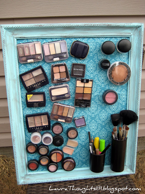 25 brilliant and easy diy makeup storage ideas cute diy projects 2 magnetic makeup board solutioingenieria Gallery