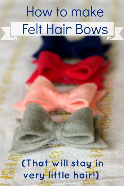 Make Original Felt Hair Bows