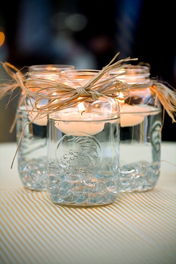 Mason Jar Floating Centerpiece