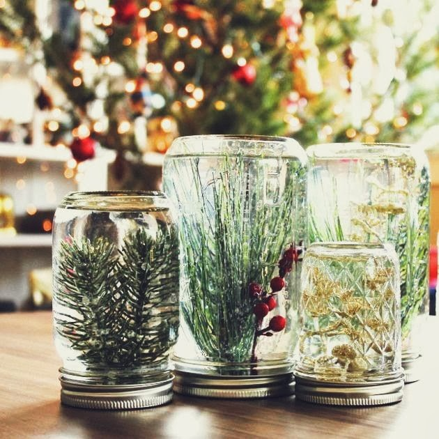 Decorating home with mason jars.