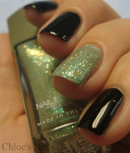 Matte And Glittery Nails